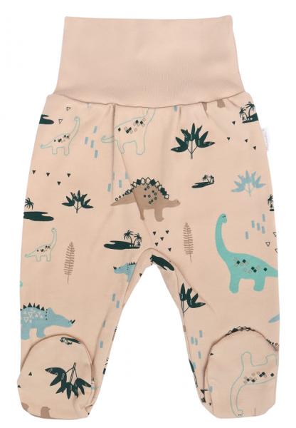 mamatti-detske-polodupacky-dinosaurus-kremove-s-potiskem-vel-74-74-6-9m