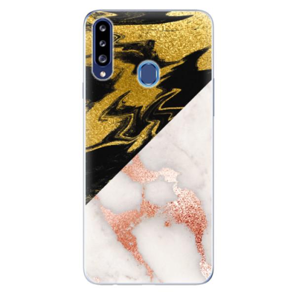 Odolné silikonové pouzdro iSaprio - Shining Marble - Samsung Galaxy A20s