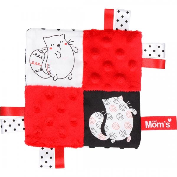 Hencz Toys Edukační hračka šustík - kočičky, červená