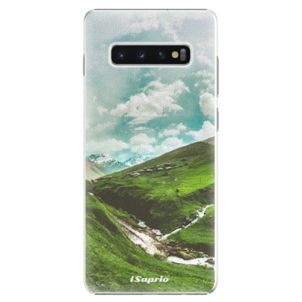 Plastové pouzdro iSaprio - Green Valley - Samsung Galaxy S10+