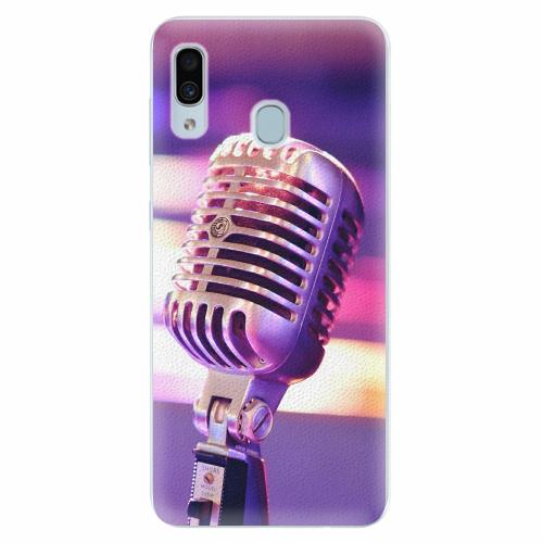 Silikonové pouzdro iSaprio - Vintage Microphone - Samsung Galaxy A30