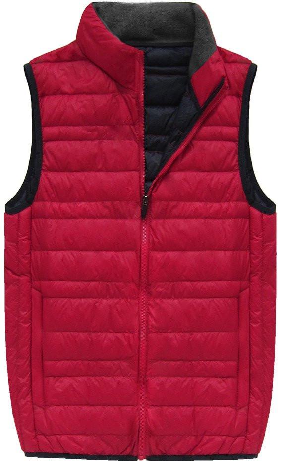 Červená pánská vesta s přírodní vycpávkou (5008)