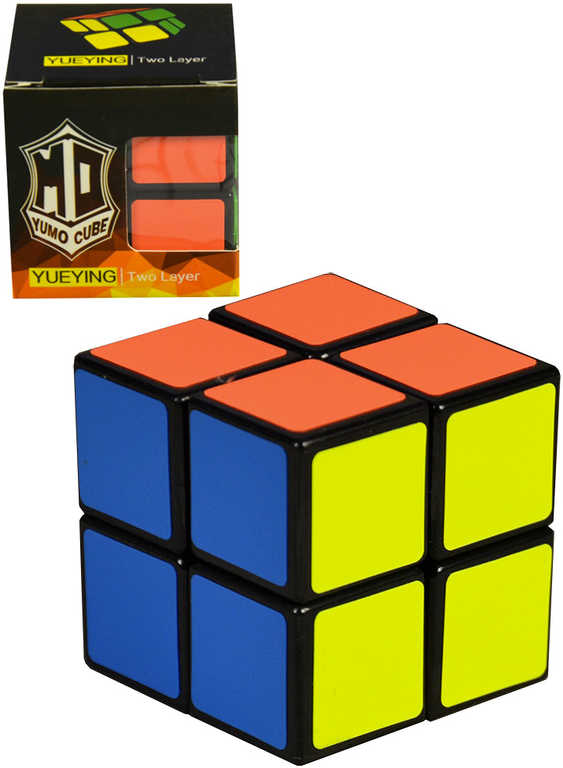 Kostka magická (rubikova) 2x2 malá 5,5cm hlavolam v krabičce