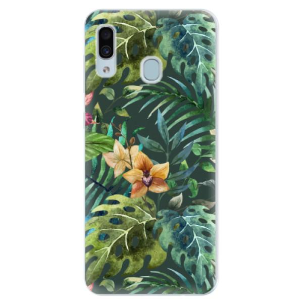 Silikonové pouzdro iSaprio - Tropical Green 02 - Samsung Galaxy A30