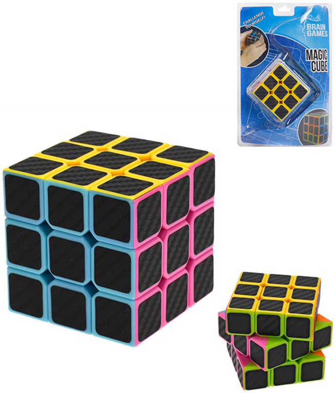 Hra Rubikova kostka černá 6,5cm dětský hlavolam plast