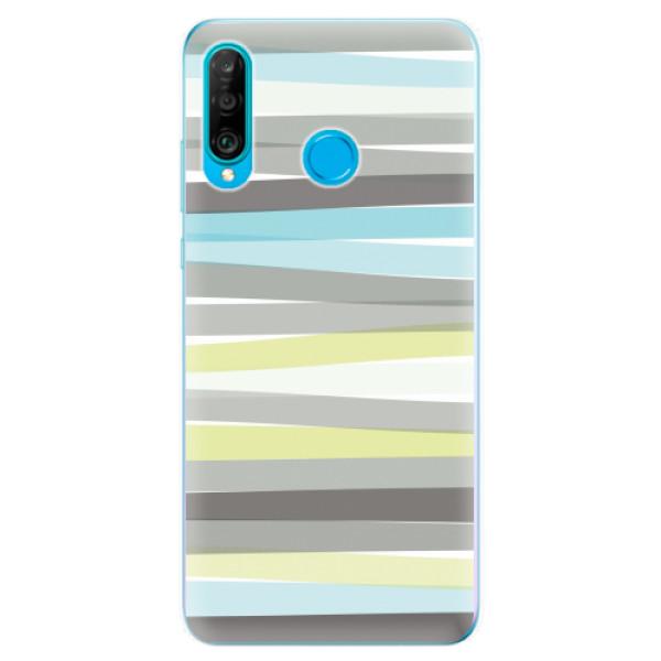 Odolné silikonové pouzdro iSaprio - Stripes - Huawei P30 Lite