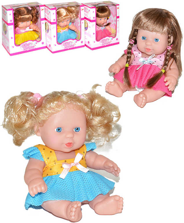 Panenka holčička v sukýnce 20cm 3 druhy v krabici