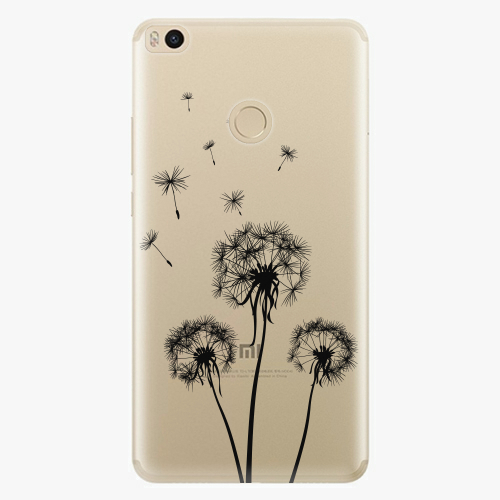 Plastový kryt iSaprio - Three Dandelions - black - Xiaomi Mi Max 2