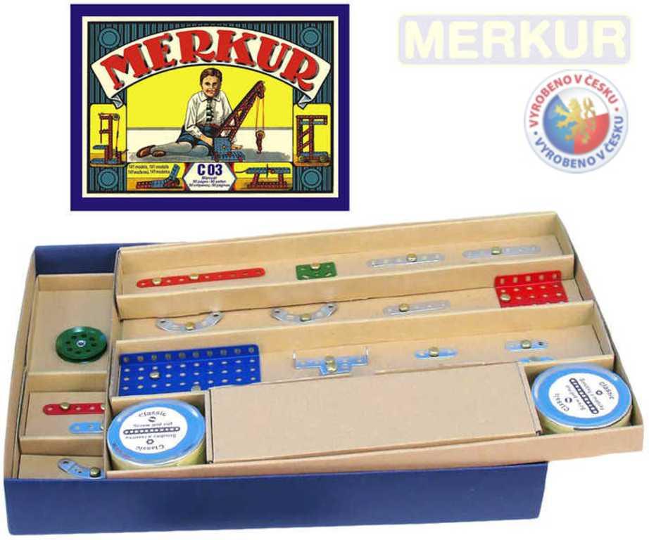 MERKUR Classic C03 141 modelů 163 dílků retro KOVOVÁ STAVEBNICE