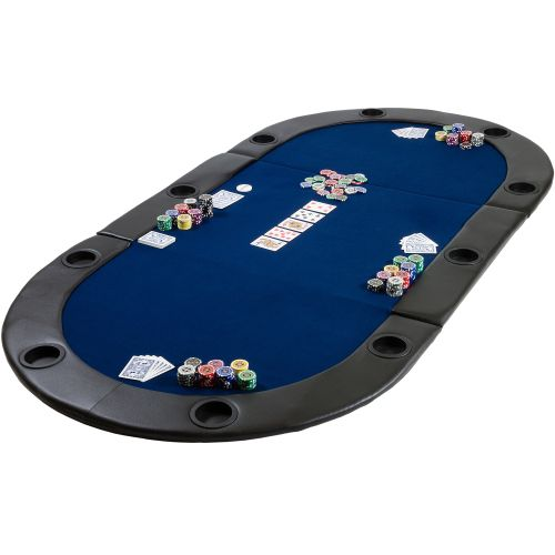 Pokerová podložka skládací modrá