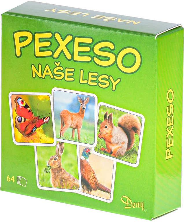 Hra Pexeso Naše lesy zvířátka foto 64 kartiček *SPOLEČENSKÉ HRY*