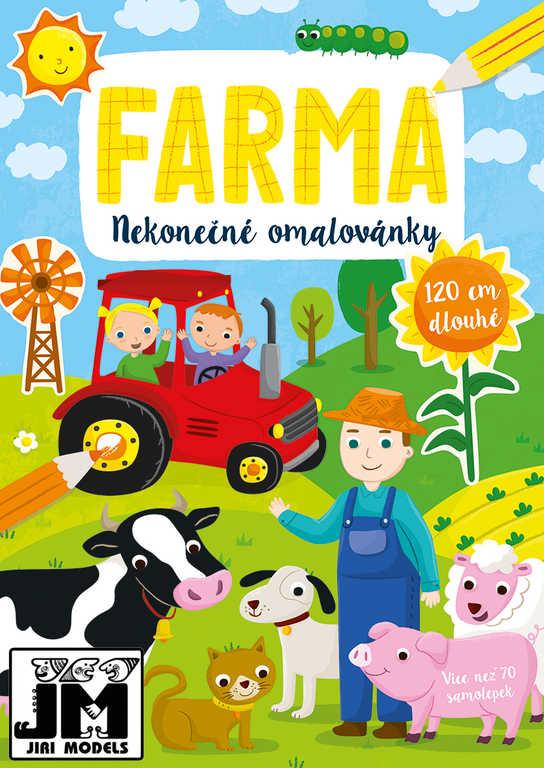 JIRI MODELS Omalovánky nekonečné Farma set se samolepkami