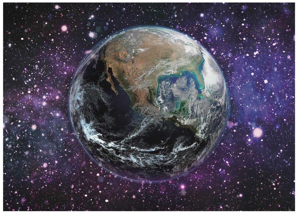 DINO Puzzle 1000 dílků Planeta Země 66x47cm svítí ve tmě skládačka