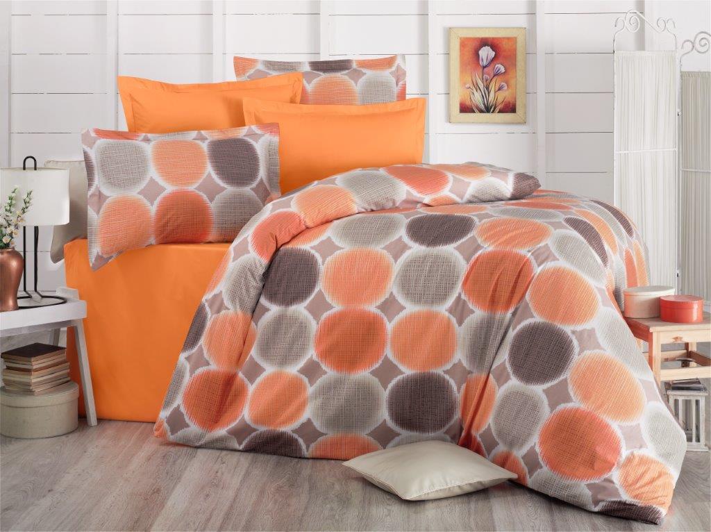 Krepový povlak na polštář Liberta orange, Výběr rozměru: