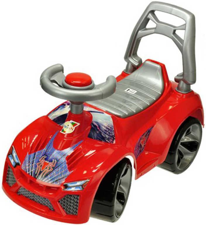Auto dětské odrážedlo 70cm odstrkovadlo s klaksonem červené v sáčku