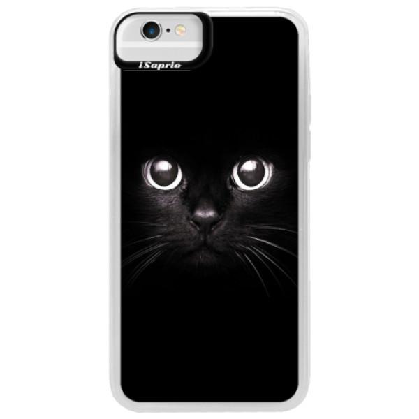 Neonové pouzdro Blue iSaprio - Black Cat - iPhone 6/6S