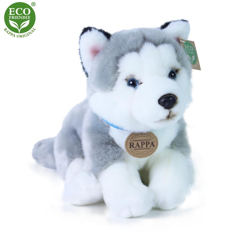 Plyšový pes husky 25 cm ECO-FRIENDLY