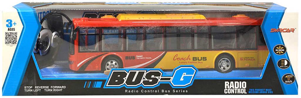 RC Autobus na vysílačku na baterie 2 barvy plast Světlo