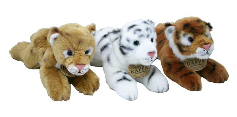 PLYŠ Tygr ležící 17 cm - 3 druhy
