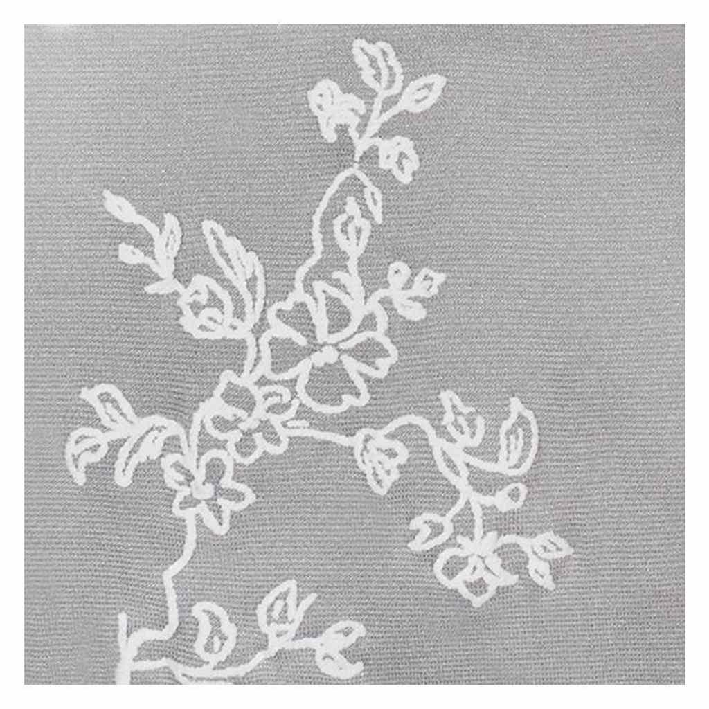 Punčocháče z mikrovlákna New Baby šedé s kytičkami - šedá/152 (11-12r)
