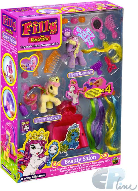 EP line Filly Royale Kosmetický salón kadeřnický set 2 koníci s doplňky plast