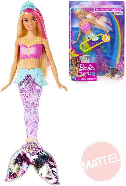 MATTEL BRB Panenka Barbie Dreamtopia mořská panna pohyblivý ocas na baterie