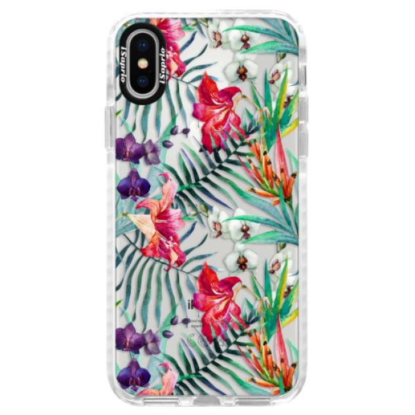 Silikonové pouzdro Bumper iSaprio - Flower Pattern 03 - iPhone X