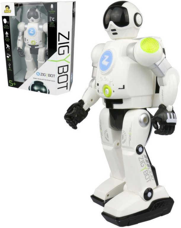 Robot Zigy interaktivní 33cm s funkcí času 17 příkazů USB zpívá vypráví tančí REC