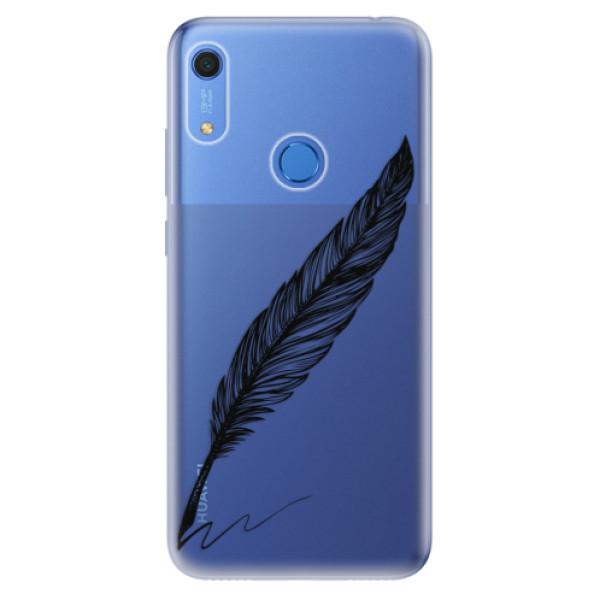 Odolné silikonové pouzdro iSaprio - Writing By Feather - black - Huawei Y6s