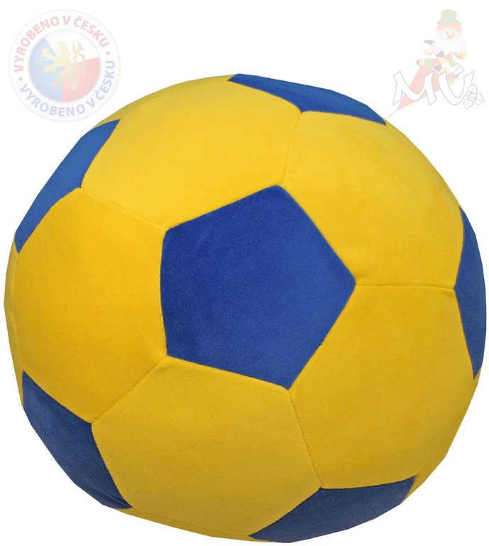MORAVSKÁ ÚSTŘEDNA PLYŠ Baby míč žlutomodrý 40cm pro miminko