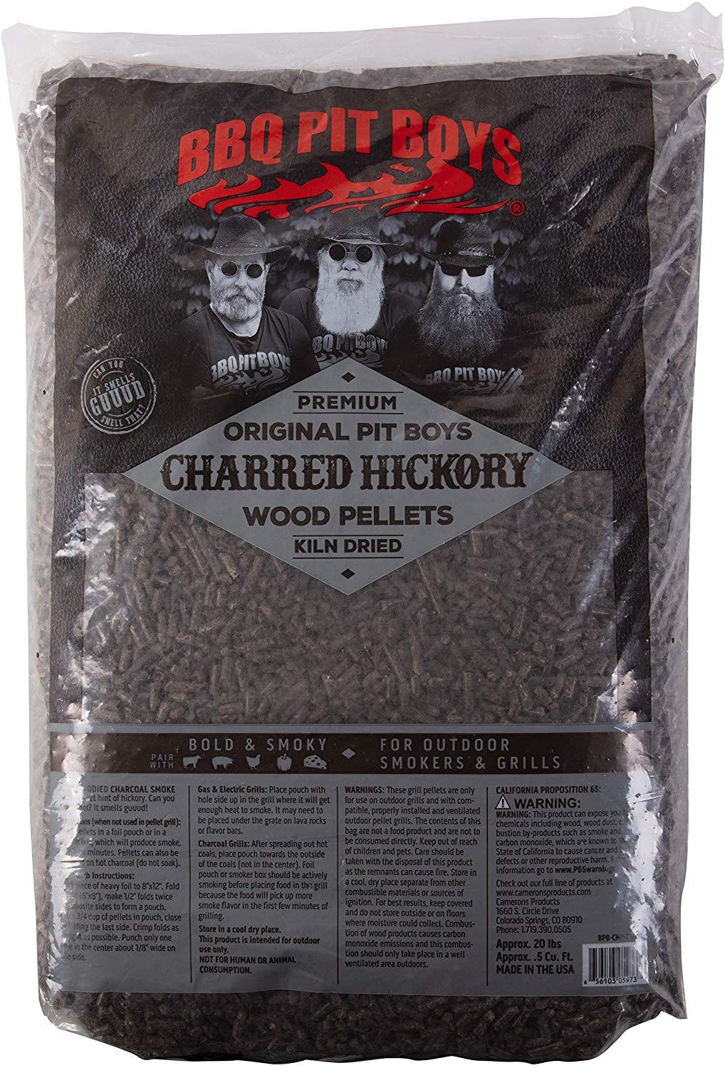 BBQ Pit Boys pelety ke grilování Charred Hickory, 9 kg