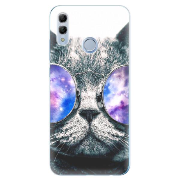 Odolné silikonové pouzdro iSaprio - Galaxy Cat - Huawei Honor 10 Lite