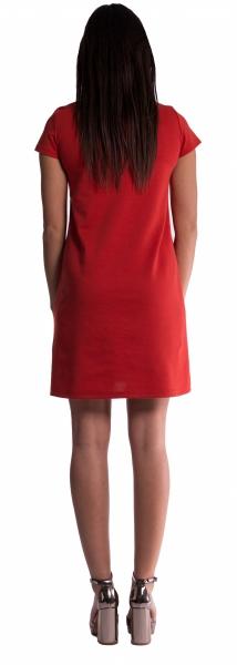 Be MaaMaa Těhotenské šaty - petrolej - M (38)