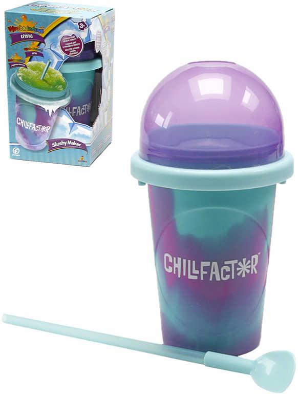 Chillfactor Slushy Maker výroba ledové tříště dětský shaker Modrofialový plast