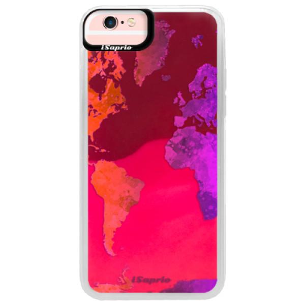 Neonové pouzdro Pink iSaprio - Warm Map - iPhone 6/6S