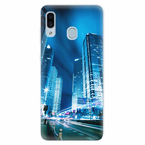 Silikonové pouzdro iSaprio - Night City Blue - Samsung Galaxy A30