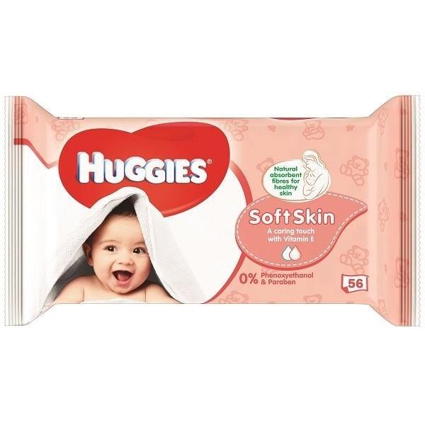 Soft Skin vlhčené brousky 56 ks