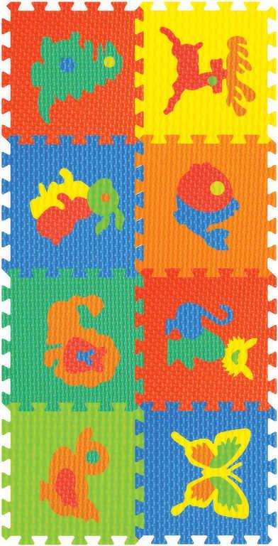 Měkké bloky / puzzle na zem 8 ks 30 x 30 cm ZVÍŘÁTKA