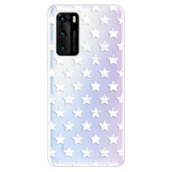 Odolné silikonové pouzdro iSaprio - Stars Pattern - white - Huawei P40