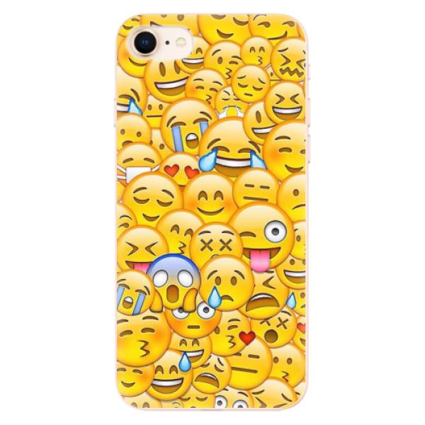 Odolné silikonové pouzdro iSaprio - Emoji - iPhone 8