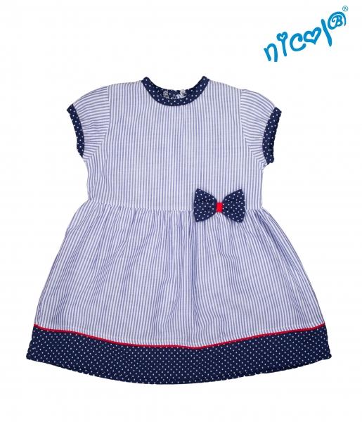 Kojenecké šaty Nicol, Sailor - granátové/proužky, vel. 80 - 80 (9-12m)