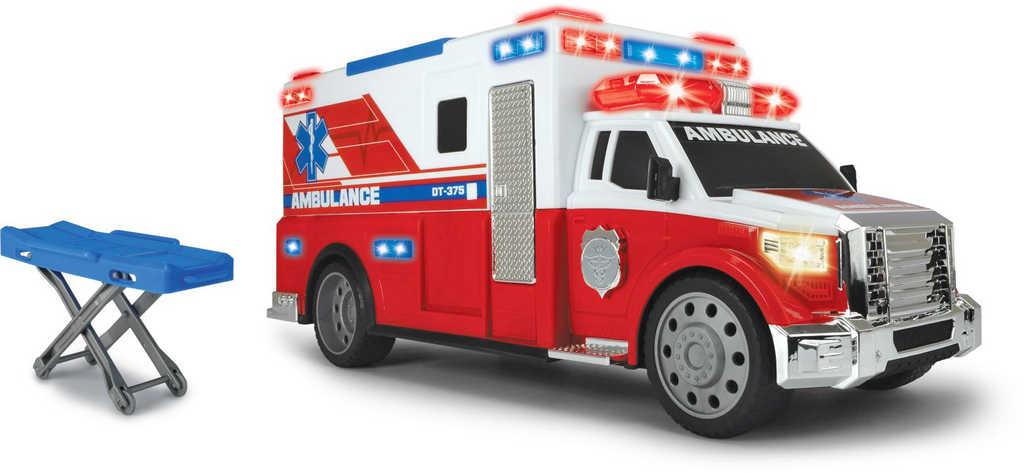 DICKIE Auto ambulance 33cm set s nosítky na baterie plast Světlo Zvuk