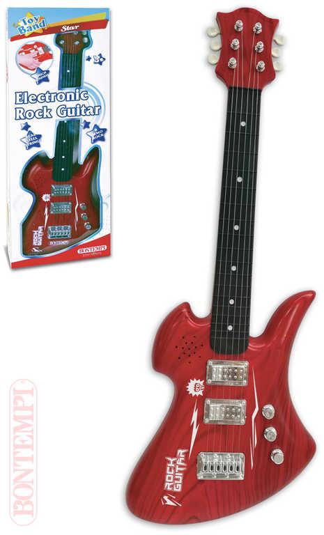 BONTEMPI Kytara dětská rocková elektrická na baterie Zvuk *HUDEBNÍ NÁSTROJE*