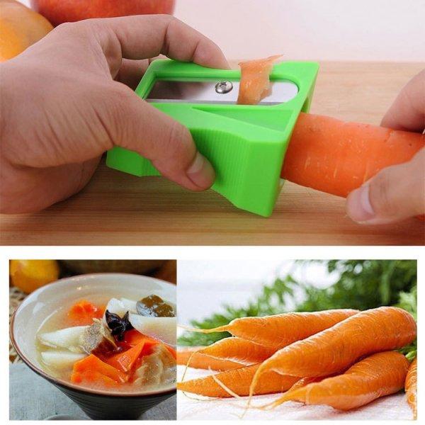 Ořezávátko a škrabka na mrkev a zeleninu - Modrá