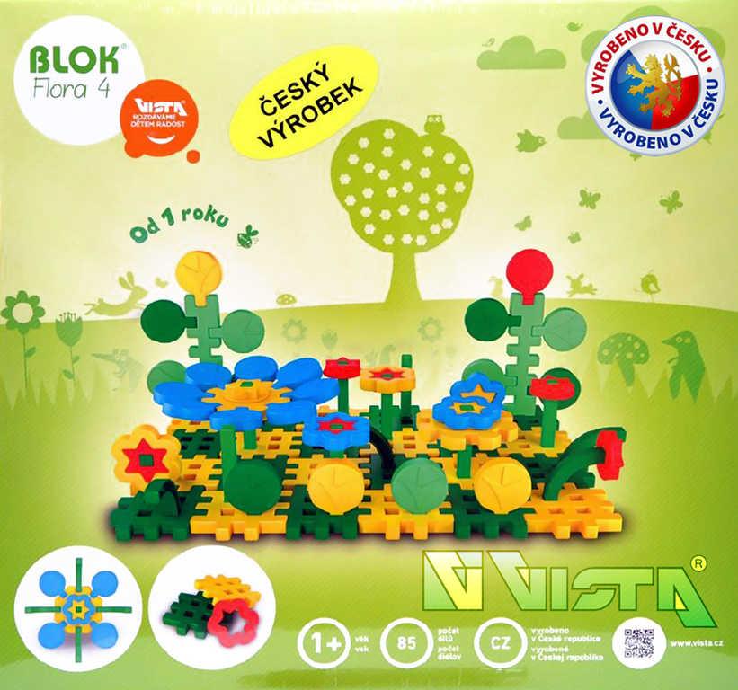 SEVA BLOK FLORA 4 plastová STAVEBNICE 85 dílků