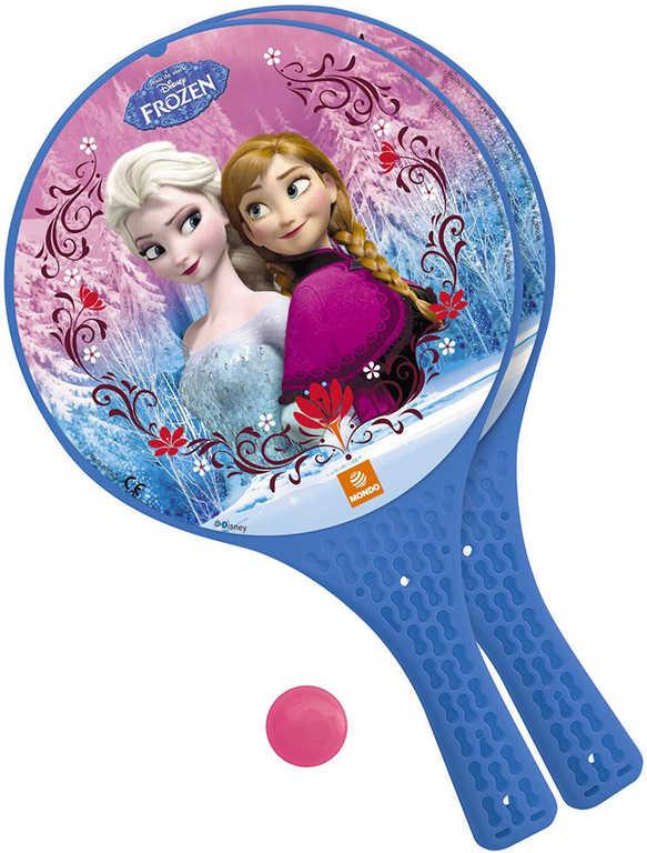 MONDO Tenis plážový Frozen (Ledové Království) set 2 rakety + soft míček