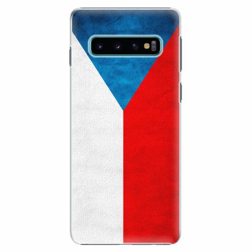 Plastový kryt iSaprio - Czech Flag - Samsung Galaxy S10