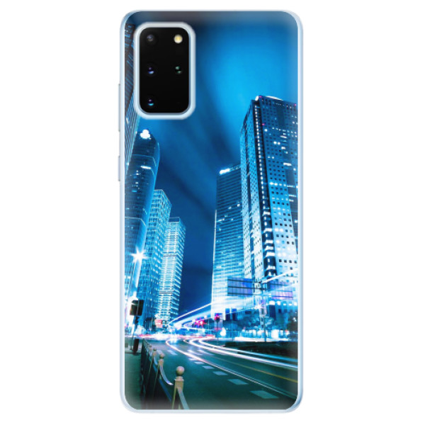 Odolné silikonové pouzdro iSaprio - Night City Blue - Samsung Galaxy S20+