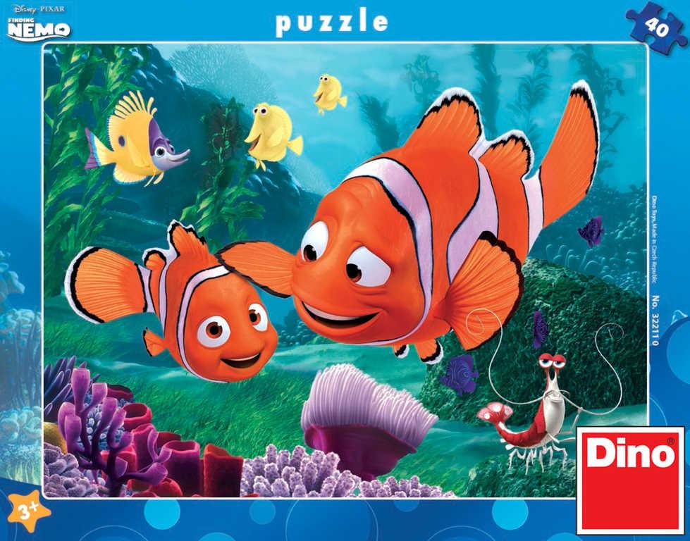 DINO Puzzle Hledá se Nemo 32x24cm set 40 dílků v krabici