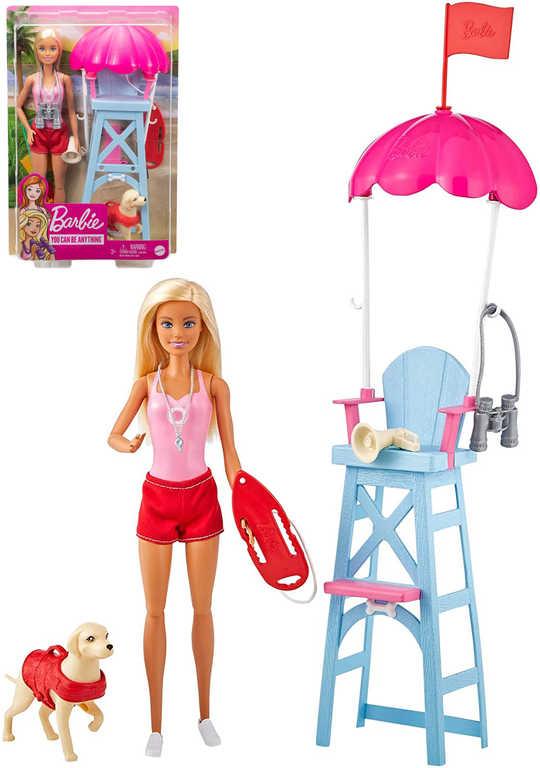 MATTEL BRB Panenka Barbie plavčice herní set s doplňky v krabici